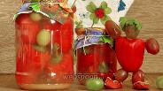 Фото рецепта Перец фаршированный виноградом на зиму