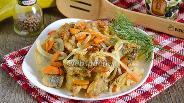 Фото рецепта Минтай жареный с луком и морковью