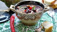 Фото рецепта Суп с красной фасолью и грибами