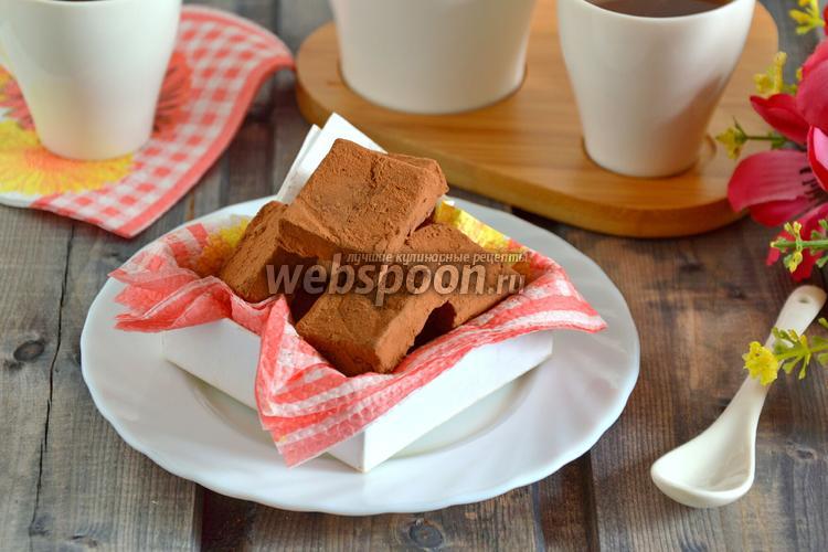 Фото Конфеты из фасоли и шоколада