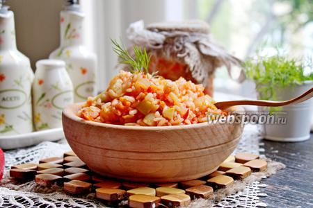 Рис с кабачками на зиму
