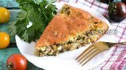Фото рецепта Кефирный пирог с сардинами, яйцом и зеленью