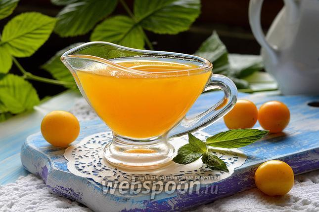 Фото Сладкий соус из алычи