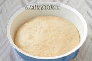 Вот так будет выглядеть тесто через 3 часа.