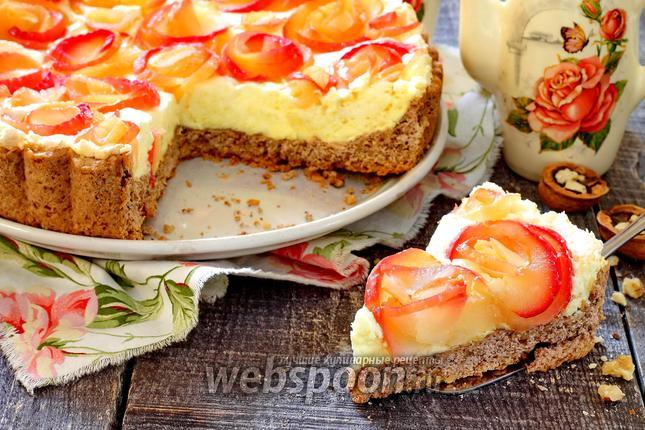 Фото Пирог «Яблочные розы в ореховой корзине»