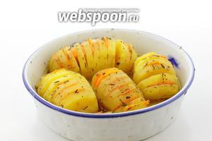 Картофель на пару готов. Приятного аппетита!