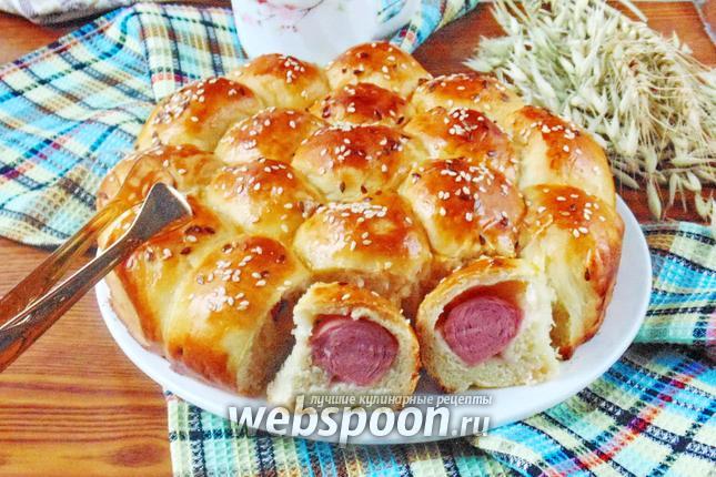 Фото Пирог с сосисками