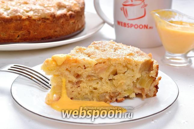 Фото Ирландский яблочный пирог с заварным кремом
