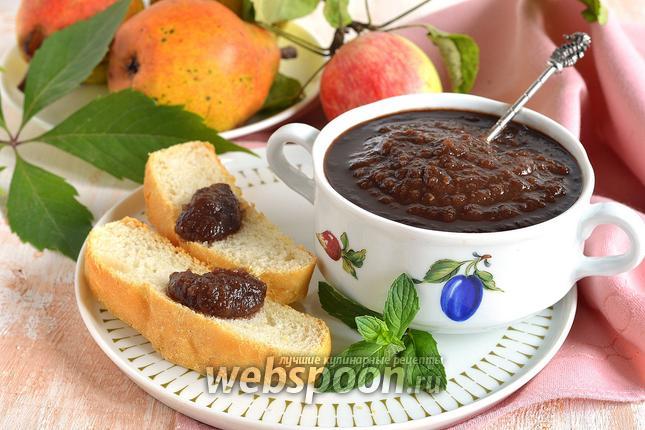 Фото Шоколадное повидло из яблок и груш
