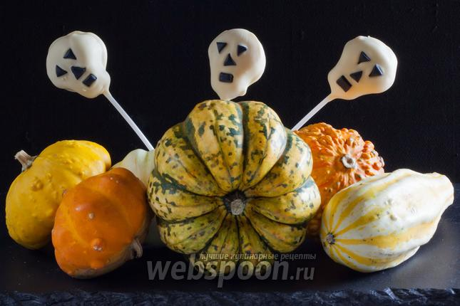 Фото Кейкпопсы на Хэллоуин «Черепа»