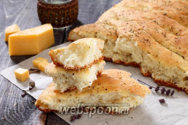 Фото Фокачча с сыром и луком