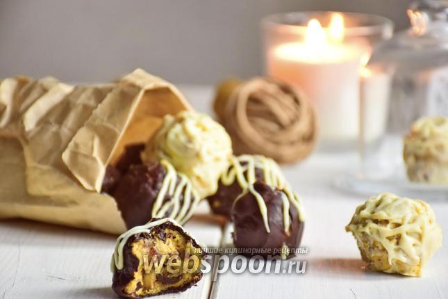 Фото Нутовые конфеты с финиками