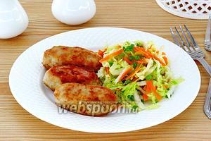 Колбаски из свинины жареные