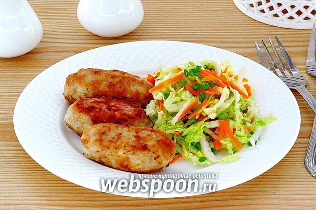 Фото Колбаски из свинины жареные