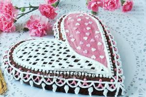 Пирог «Валентинка» готов. Дарим нашим любимым.