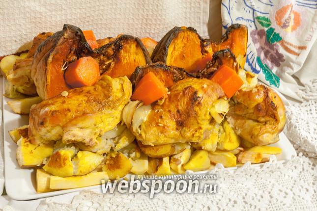 Фото Жаркое из цыплят с тыквой