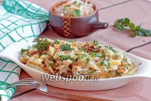 Картошка со сметаной и чесноком