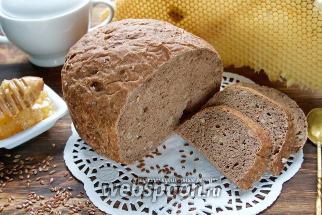 Фото Льняной хлеб в хлебопечке