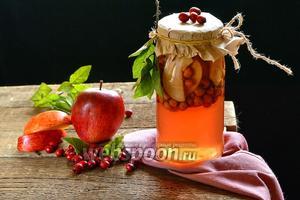 Компот из боярышника и яблок на зиму