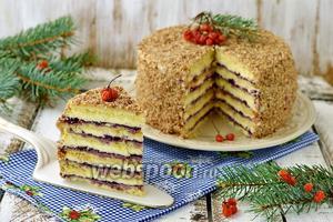 Песочный торт с джемом