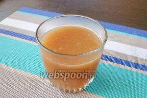 Ароматный картофельный кисель из яблочного сока готов!