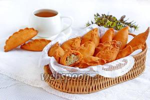 Песочные пирожки с мясом и капустой