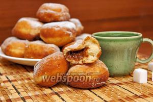 Пончики с варёной сгущёнкой
