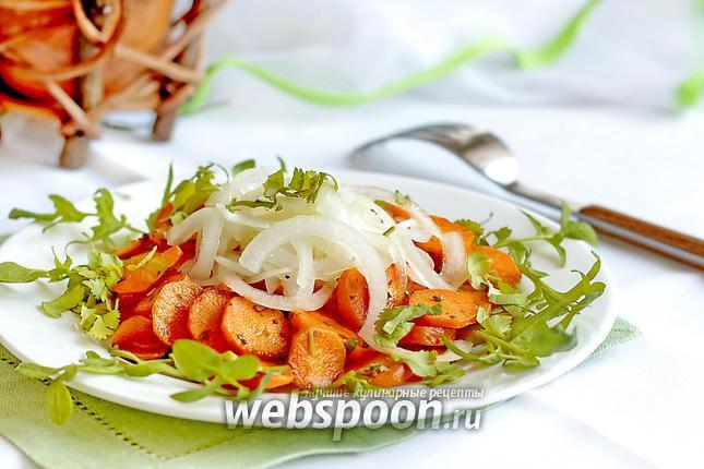 Фото Салат из жареной моркови и лука
