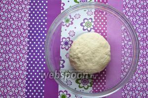 Подготовленное тесто выложить в миску, накрыть салфеткой и оставить на 30 минут в тёплом месте.