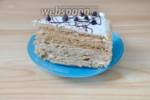 Вот так выглядит торт в разрезе.