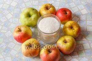 Для приготовления мармелада нужны только яблоки и сахар!