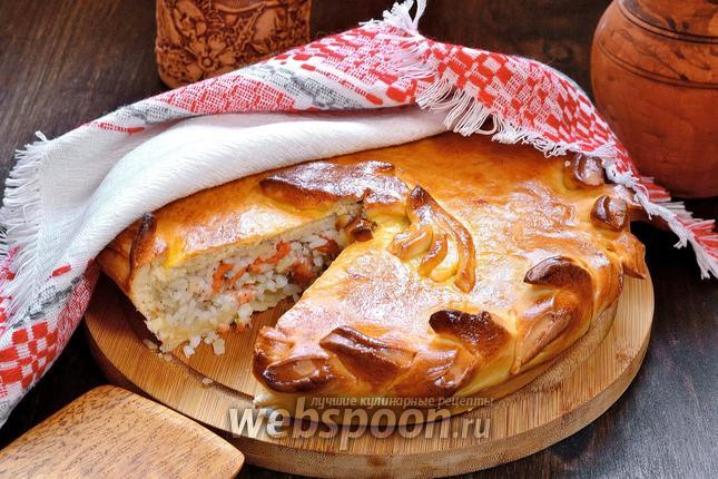 Фото Рыбный пирог с рисом