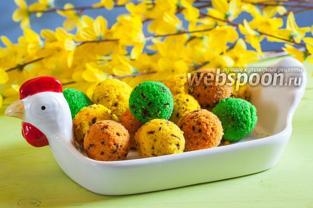 Фото Кексики в формочках «Пасхальные яйца»