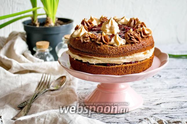 Фото Шоколадный торт с безе