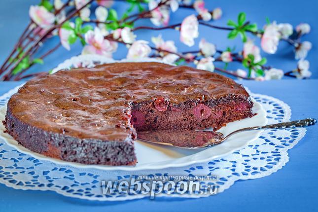 Фото Шоколадно-вишнёвый пирог