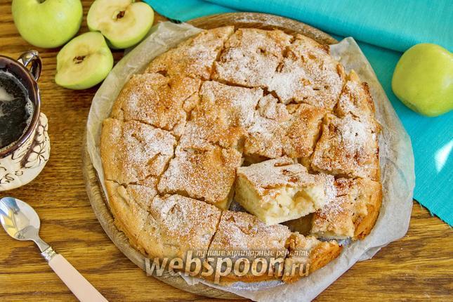 Яблочный пирог без яиц или шарлотка 12