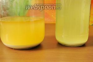 Через 12-24 часа образуетсяосадок — основа для киселя.