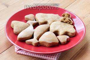 Вот — готовое печенье с насыщенным ароматом.