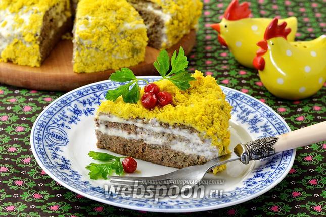 Фото Печёночный торт в мультиварке