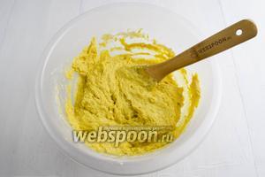 Добавить оливковое масло (50 мл). Перемешать.