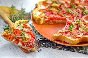 Итальянский тарт с помидорами и сыром