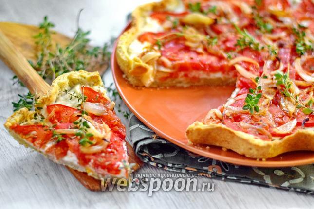 Фото Итальянский тарт с помидорами и сыром