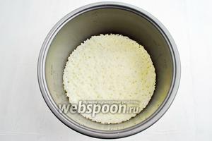 Приготовить рис в мультиварке, как в рецепте Гарнир из дикого риса в мультиварке.