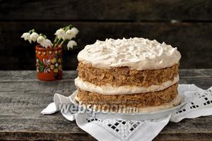 Торт с безе без выпечки
