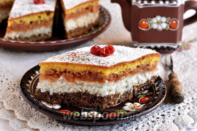 Фото Трёхслойный пирог