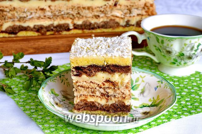 Фото Песочный торт с безе