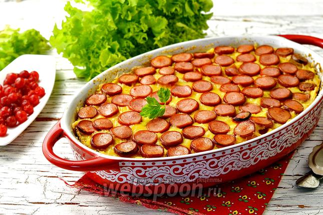 Фото Картофельная запеканка с сосисками