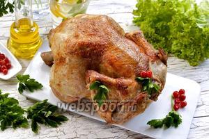 Целая курица в мультиварке