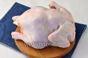 Курицу хорошо промыть и просушить бумажными полотенцами.