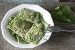 Равиоли с крапивой и шпинатом